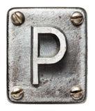 Letra do metal Fotografia de Stock