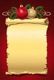 Letra do Natal ilustração stock