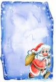 Letra do Natal com Santa Imagens de Stock