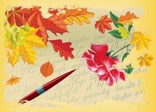 Letra do outono Fotos de Stock Royalty Free