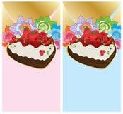 Letra do presente do bolo do dia do pai da mãe Fotografia de Stock Royalty Free