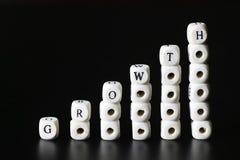 Letra do texto do crescimento Imagens de Stock Royalty Free