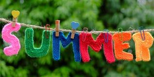 Letra do verão, fundo do verão Foto de Stock