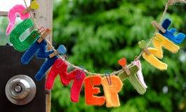 Letra do verão, fundo do verão Imagem de Stock Royalty Free
