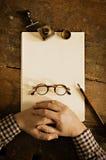 Letra do vintage e conceito de uma comunicação Copie o espaço para overwrite seu texto Imagens de Stock Royalty Free