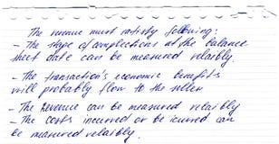 Letra do vintage escrita pela pena da tinta Foto de Stock