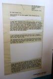 Letra dos prisioneiros da ilha de Robben Imagens de Stock Royalty Free