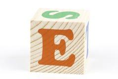 Letra E Imagens de Stock