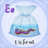 Letra E Imágenes de archivo libres de regalías