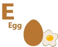 Letra e de alfabeto inglés para el huevo Imagen de archivo libre de regalías