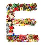 Letra E, para la decoración de la Navidad stock de ilustración
