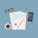 Letra e telefone Imagem de Stock