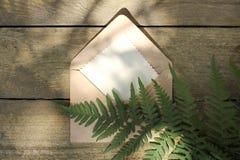 Letra ecológica natural Foto de archivo libre de regalías