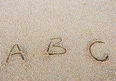 Letra el ABC Fotografía de archivo