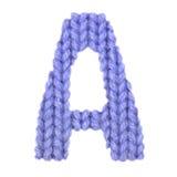 Letra el alfabeto inglés de A, color azul marino Fotos de archivo