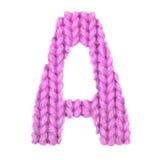 Letra el alfabeto inglés de A, rosa del color Foto de archivo