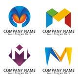 Letra elegante M Concept Logo Foto de archivo