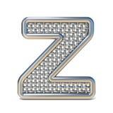 LETRA esboçada Z 3D da fonte da rede de arame do metal Imagens de Stock Royalty Free