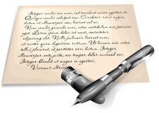 Letra escrita Foto de archivo libre de regalías