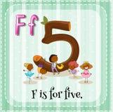 Letra f Foto de archivo libre de regalías