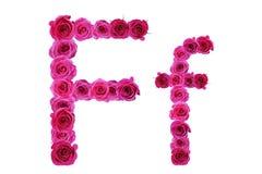Letra f de rosas Imagen de archivo libre de regalías