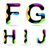 Letra F G H I J Imágenes de archivo libres de regalías
