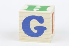 Letra G Imagen de archivo libre de regalías
