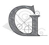 Letra G stock de ilustración