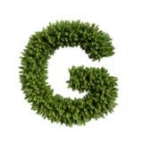 Letra G da árvore de Natal ilustração stock