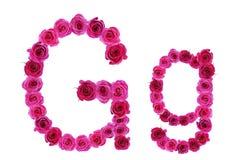 Letra g de rosas Foto de archivo libre de regalías