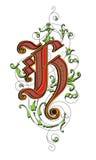 Letra H Foto de archivo libre de regalías