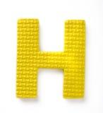 Letra H fotografía de archivo libre de regalías