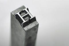 Letra H Fotos de archivo libres de regalías
