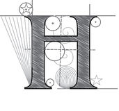 Letra H libre illustration