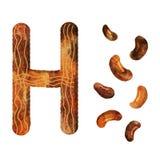 Letra h de alfabeto inglés ilustración del vector