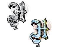 Letra H do estilo do tatuagem Fotos de Stock Royalty Free