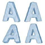 Letra helada A. Imagen de archivo