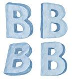 Letra helada B. Imágenes de archivo libres de regalías