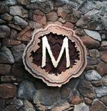 Letra inicial M Fotografia de Stock