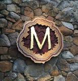 Letra inicial M Imagens de Stock Royalty Free