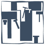 Letra inicial T Imagens de Stock
