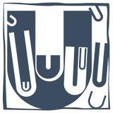 Letra inicial U Fotografía de archivo libre de regalías