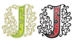 Letra J stock de ilustración