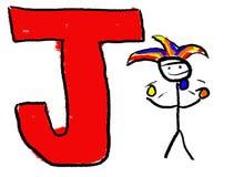 Letra J Imagen de archivo libre de regalías