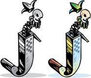 Letra J do estilo do tatuagem Imagem de Stock