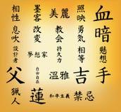 Letra japonesa Fotografia de Stock Royalty Free