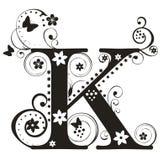 Letra K stock de ilustración