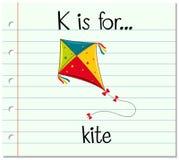 A letra K de Flashcard é para o papagaio Imagens de Stock Royalty Free