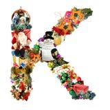 Letra K, para la decoración de la Navidad stock de ilustración