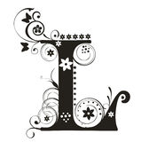 Letra L ilustração royalty free